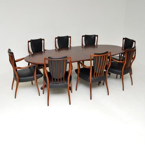 Rosewood & Leather Dining Table & Chairs by AJ Milne for Heals (1 of 22)