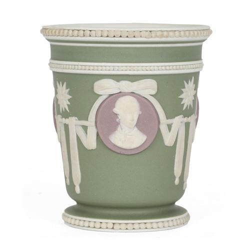 Wedgwood Georgian Three Color Jasperware Medallion Vase c.1790 (1 of 15)