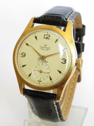 Gents Smiths De Luxe Wrist Watch c.1960 (1 of 5)