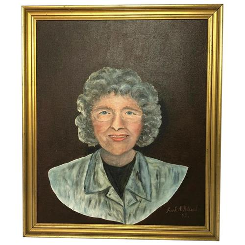 "20th Century Oil Painting Portrait ""Proud Grandmother"" Lady Signed Frank Holland (1 of 13)"