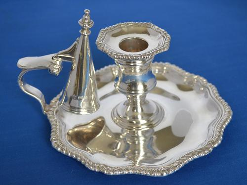 Victorian Silver Chamberstick (1 of 8)