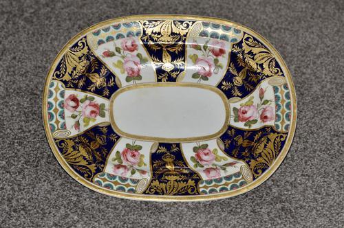 19th Century Stevenson & Hancock Derby Rounded Rectangular Dish (1 of 7)