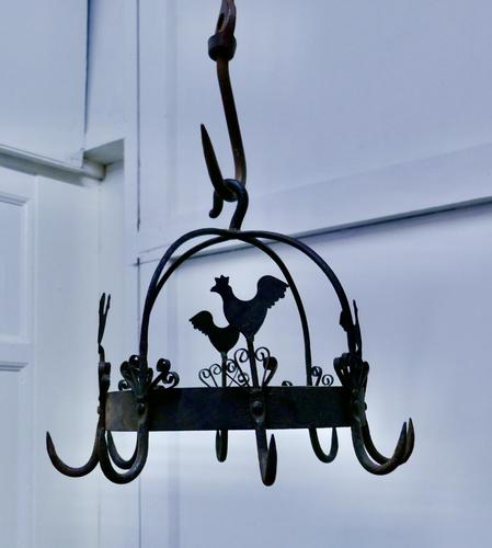 Blacksmith Made Iron Game Hanger, Kitchen Utensil or Pot Hanger (1 of 5)