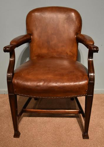 Desk Chair / Armchair Mahogany Leather 19th Century (1 of 6)