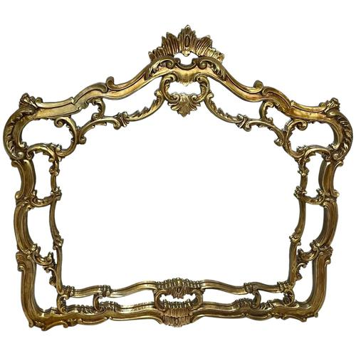 Large French Regency Gilt Pier Glass Acanthus Crown Wall Overmantle Mirror (1 of 13)