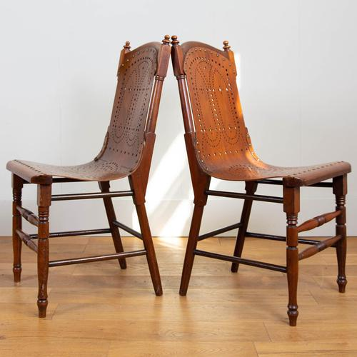 Pair Attractive Victorian Pierced Bentwood Side Chairs (1 of 14)