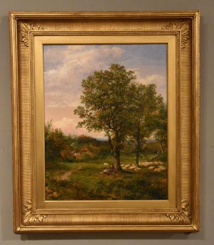 """Oil Painting by Mark Edwin Dockree """"Pastoral scene near Dedham"""" (1 of 5)"""