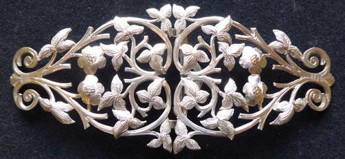 Victorian 1887 Hallmarked Solid Silver Nurses Belt Buckle Rare Hand Cut Design (1 of 11)