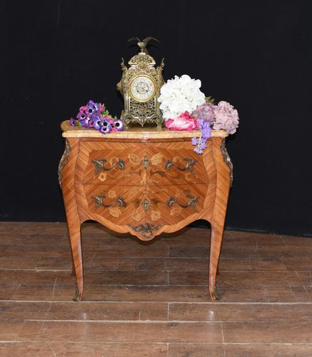 Antique French Commode Nightstand - Bombe Chest (1 of 8)