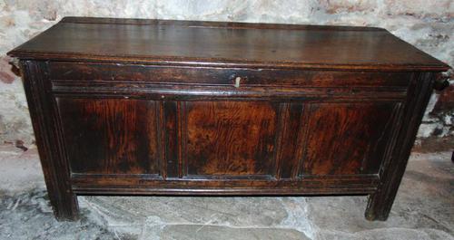 Early Oak Paneled Front Coffer (1 of 7)