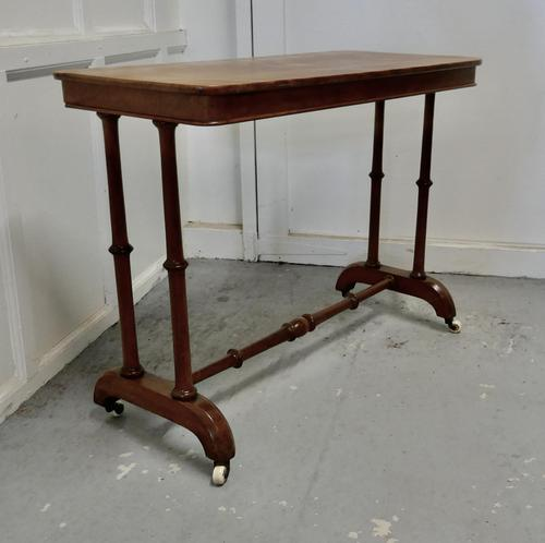 Elegant Victorian Arts & Crafts Birch and Mahogany Side Table (1 of 8)