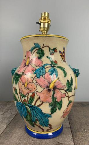 Victorian English Floral Vase Table Lamp, Rewired & Pat Tested (1 of 15)
