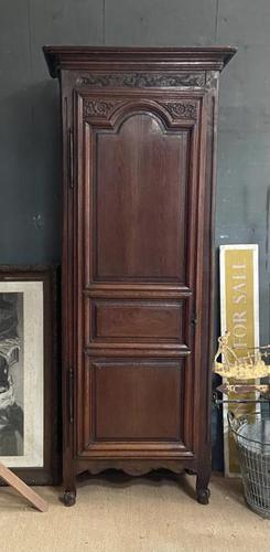 Lovely French Single Door Armoire or Hall Cupboard (1 of 7)