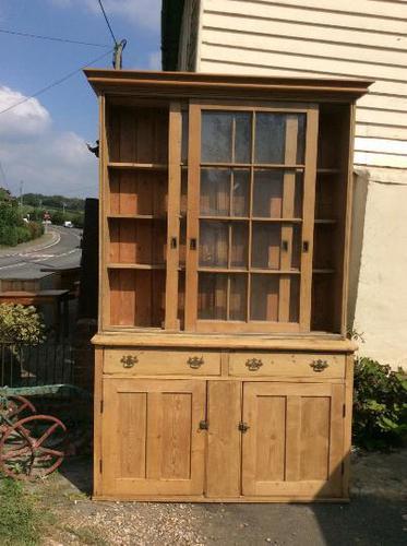 Very Large Antique Pine Dresser Sliding Glazed Doors (1 of 10)
