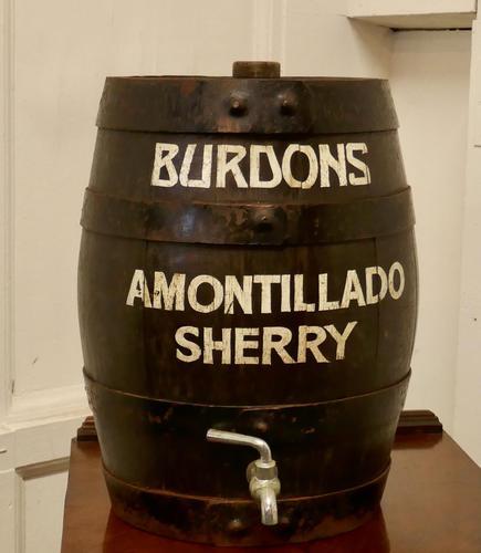 Burdons Bar Top Oak Amontillado Sherry Barrel (1 of 5)