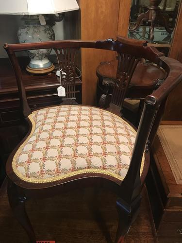 Unusual Pretty Shaped Corner Chair (1 of 11)