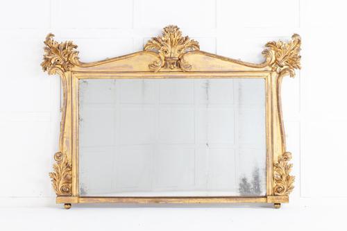Regency Giltwood Overmantle Mirror with Original Gilding (1 of 5)