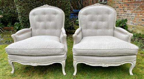 Pair of Very Large Bergere Armchairs (1 of 8)