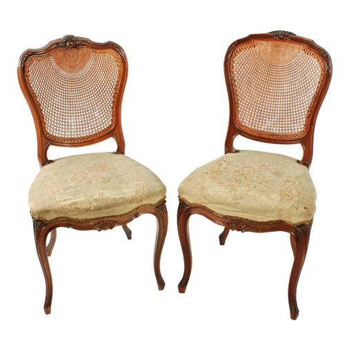 Two Walnut Bergére Salon Chairs (1 of 8)