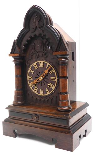 Rare Junghans Cuckoo Mantel Clock – German Black Forest Mantle Clock (1 of 12)