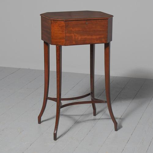 George III Mahogany Work Table / Side Table (1 of 7)