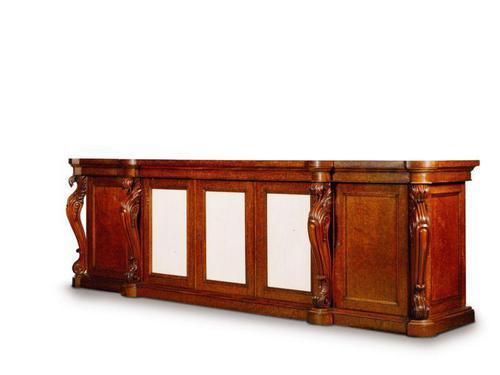 Large George IV, Plum Pudding Mahogany Side Cabinet (1 of 4)