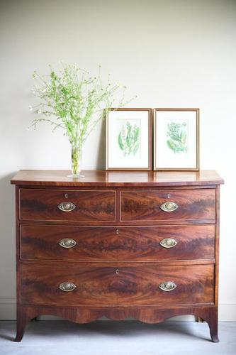 19th Century Mahogany Bow Front Chest of Drawers (1 of 12)