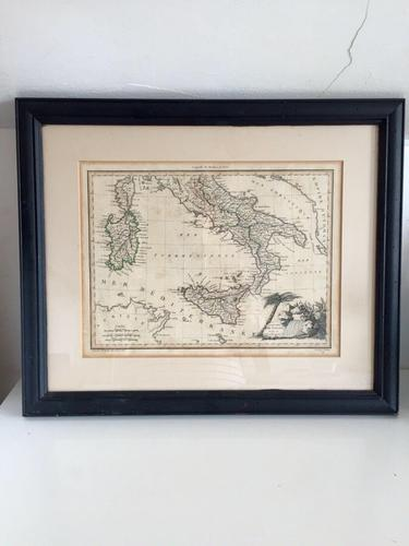 Antique Framed Map of Italy, Engraving By J B Tardieu after Giraldon (1 of 9)