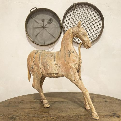 Large 19th Century Carved Indian Horse - Original Paint (1 of 14)