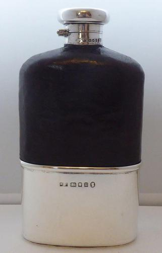 Mappin & Webb 1935 Solid Hallmarked Silver Hip Flask Half 1/2 Pint (1 of 13)