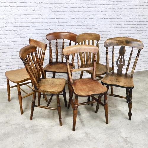 A Harlequin Set of 6 Kitchen Chairs (1 of 7)