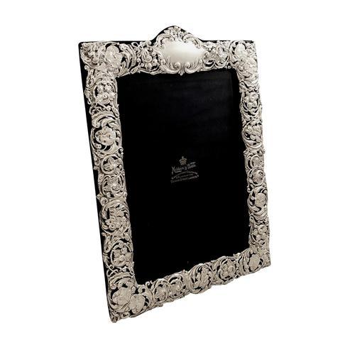 "Antique Edwardian Sterling Silver 11 1/2"" Photo Frame 1902 (1 of 10)"