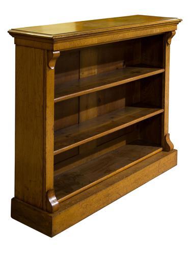 19th Century Golden Oak Open Bookshelves (1 of 5)
