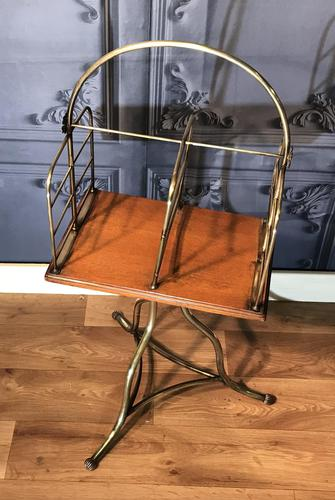 Victorian Brass & Oak Revolving Bookcase (1 of 9)