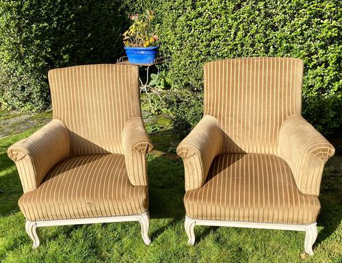 Large Pair of Upholstered Armchairs (1 of 6)