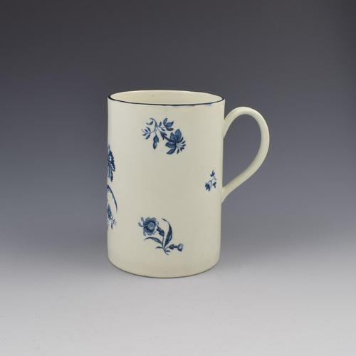 First Period Worcester Porcelain Large Beer Mug / Tankard Gilliflower Print (1 of 6)