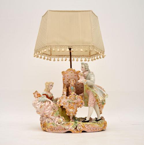 Antique Italian Capodimonte Porcelain Table Lamp (1 of 11)