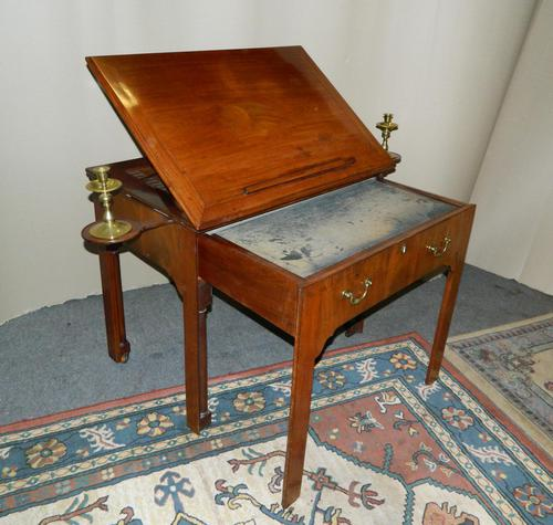 Chippendale period mahogany architect's table (1 of 9)