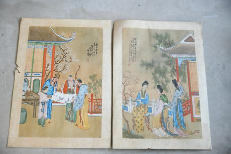 Pair of Chinese Paintings (1 of 11)