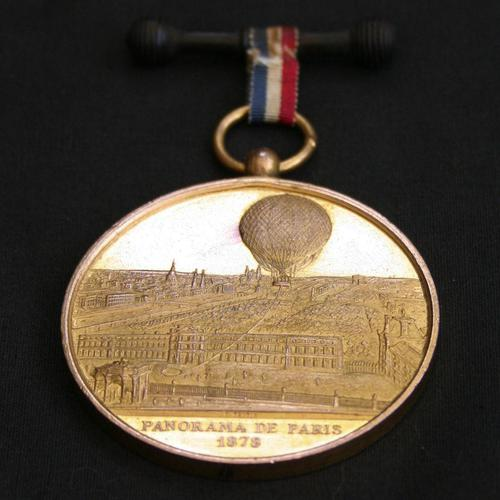 Commemorative Medal by Charles Trotin- Henri Giffard's Public Balloon Flights c.1878 (1 of 4)