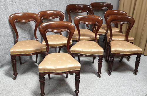 Outstanding Set Eight Mahogany Dining Chairs (1 of 9)