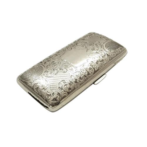 Antique Edwardian Sterling Silver Cigar Case 1904 (1 of 8)