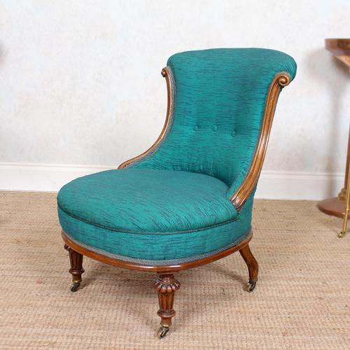 Tub Chair 19th Century Carved Mahogany (1 of 8)