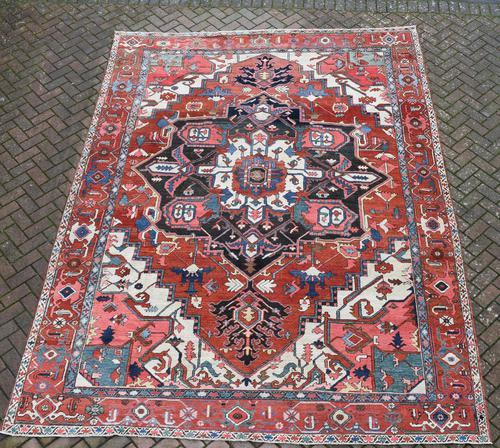 Fine Antique Heriz Room-size Carpet 389x283cm (1 of 11)