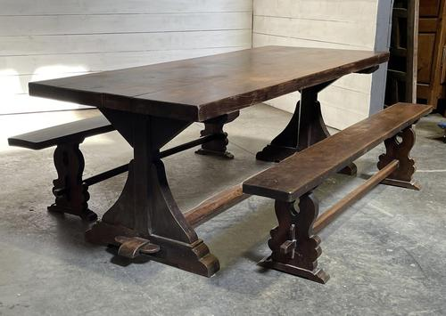 French Farmhouse Dining Table & Benches Set (1 of 33)