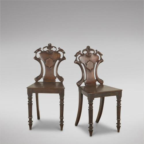 Pair of 19th Century Hall Chairs (1 of 3)