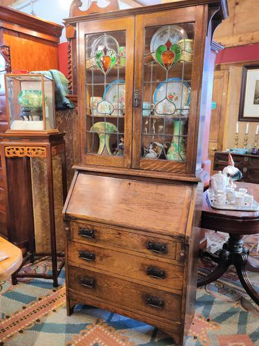 Arts & Crafts Bureau Bookcase (1 of 14)