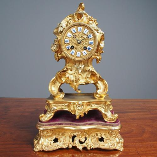 Louis XV Style Ormolu Mantel Clock by Raingo, Paris (1 of 16)