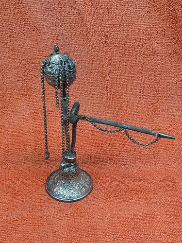 Antique Middle Eastern Hookah Silver 19th Century (1 of 12)