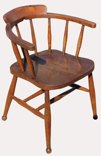 Victorian Elm Captains Chair (1 of 5)